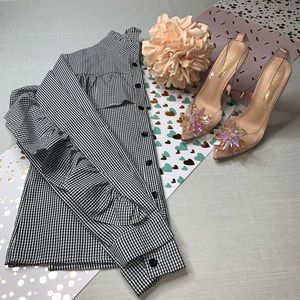 Unbranded' Ruffle Checkered Blouse